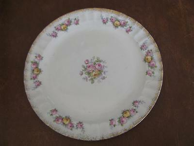 """EDWIN KNOWLES  9"""" PLATES MADE IN USA With ROSES #36-2"""