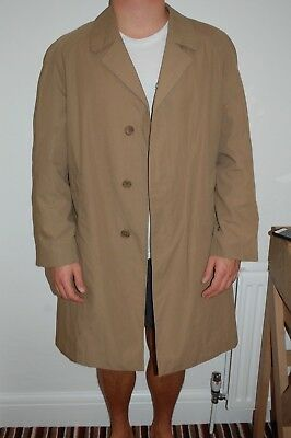 VINTAGE LONG BURBERRY TRENCH COAT. FROM SELFRIDGES. xl