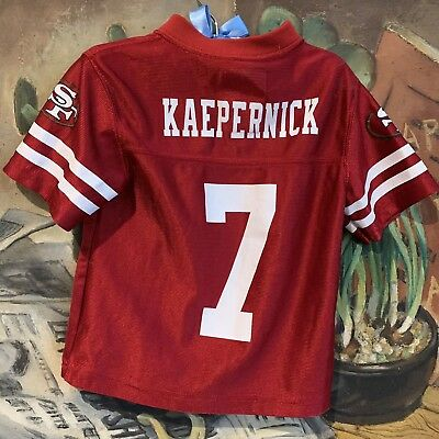 e016a4253 San Francisco 49ers Colin Kaepernick Toddler 2T Red Baby Football Jersey