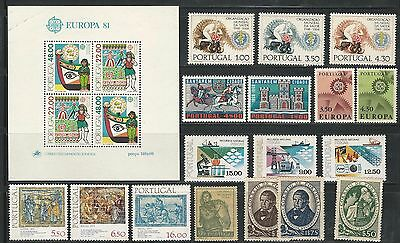 Portugal: Small lot of different stamps + 1 S.s, some values, rust stain . PT20