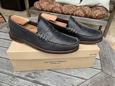 25863d8d575 Rancourt   Co. for GH Bass Fenmore Navy Casual Penny Loafers Men s 10D