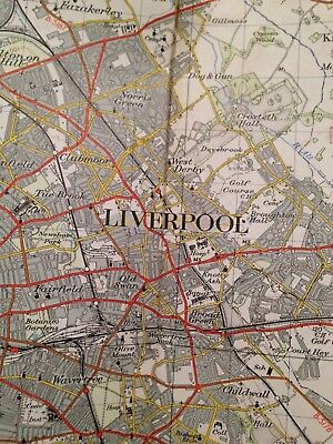 Liverpool One Inch Ordnance Survey Map. Published 1952, Sheet 100.