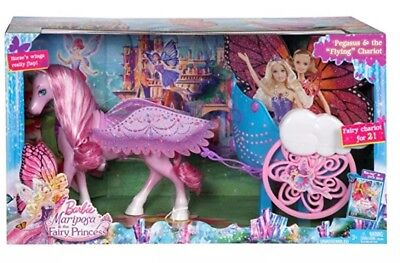 Barbie Mariposa & the Fairy Princess: Pegasus & the Flying Horse Chariot new