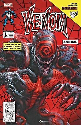 VENOM #1 ANNUAL CLAYTON CRAIN RARE Variant VF/NM COVER A OCT 2018 Marvel HARDY