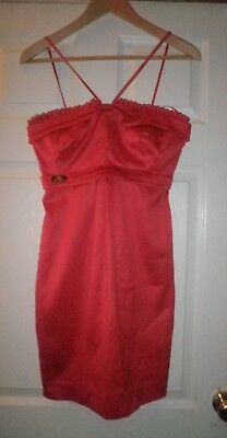 "River Island Scarlet Red Cocktail Party Dress ""Film Noir"" Size 8 New With Tags"