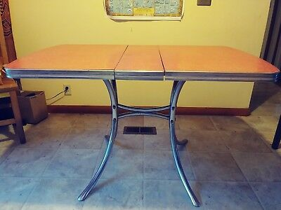 Antique Vintage Formica Red Table 1940s Mid Century