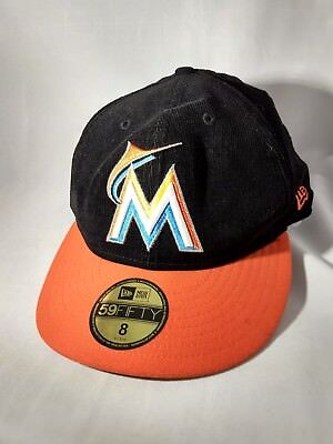 brand new d644d 02950 ... amazon new era 59fifty 5950 florida miami marlins mlb diamond cap  batting practice hat a36d5 5f19a