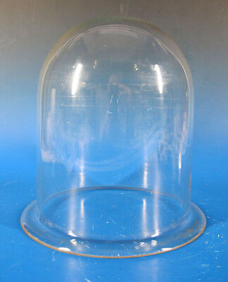 Antique 19th c Cloche Dome Bell Jar Blown Glass Vacuum Apothecary Display #1 yqz