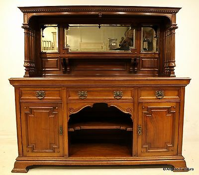 Victorian Sideboard with Mirrored Back By Maple and Co FREE Nationwide Delivery