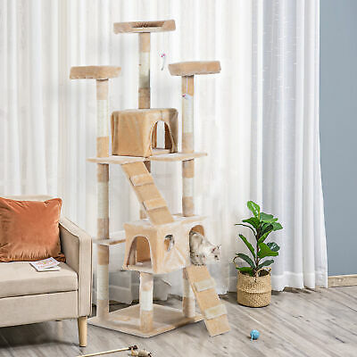 Cat Tree Kitty Activity Play Center Scratching Scratcher House Furniture 170CM