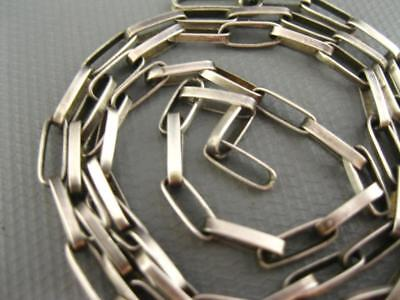 Old Hopi Sterling Hand Made Soldered Link Chain Necklace 22 Inch