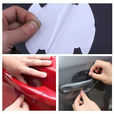 4x Universal Invisible Clear Car Door Handle Scratch Protector Guard Film Sheet