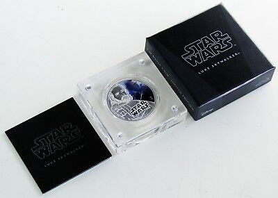 2017 Niue 2 Dollars .999 Fine Silver 1 oz Bar - STAR WARS Luke Skywalker
