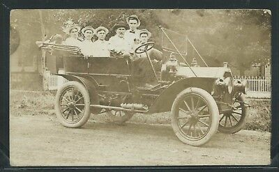 RPPC 1910's BUICK MOTOR CAR Automobile MAN & 5 SONS One of a Kind