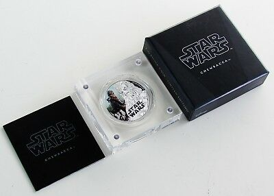 2017 Niue 2 Dollars .999 Fine Silver 1 oz Bar - STAR WARS Chewbacca