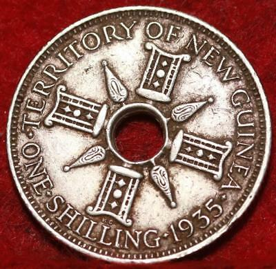 1935 New Guinea One Shilling Silver  Foreign Coin