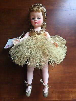 "MADAME ALEXANDER 9"" Cissette in her Golden Ballerina outfit with matching tiara"