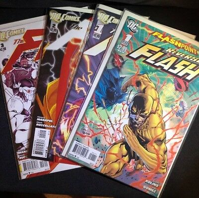 The Flash New 52 #1, #2, #3, And Flashpoint Reverse Flash #1 (2011, DC)
