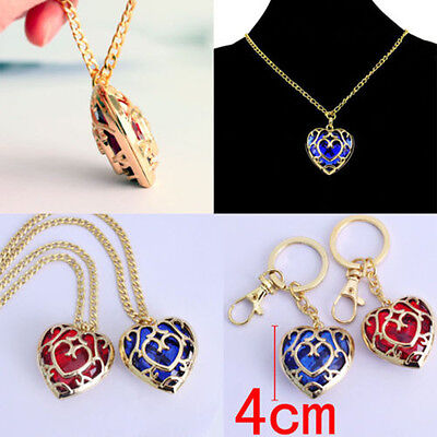 Legend of Zelda Skyward Sword Heart Container Necklaces Pendant Anime Chains D