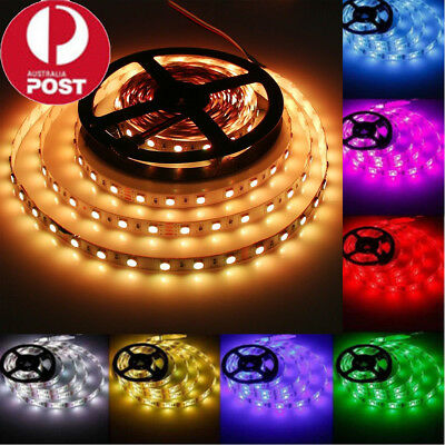 DC 12V 5~50M 5050 5630 3528 SMD 300Leds/M LED Flexible Strip Light Waterproof AU
