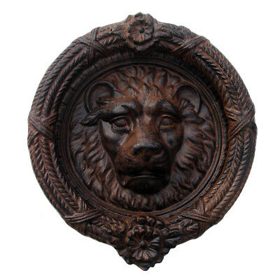 Cast Iron Antique/Vintage Style Lion's Head Door Knocker Rustic Lion Home Decor