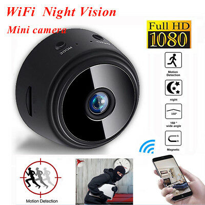 150° Mini Full HD 1080P Spy IP Hidden Camera WiFi DV Nanny Cam DVR Night Vision