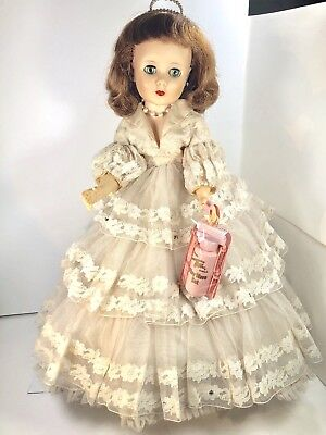 "Vintage 1959 American Character 20"" TONI Doll in AMERICAN BEAUTY & PLAY WAVE set"