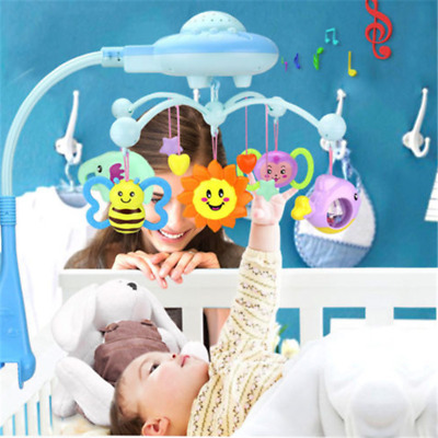 Baby Crib Mobile Bed Bell Hanging Holder Music Arch Night Light Newborn Toy FTZF