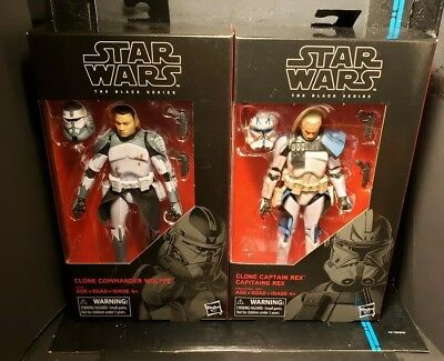 Star Wars The Black Series 6-inch #59 Clone Captain Rex - Commander Wolffe combo
