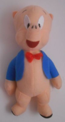 """Toy Factory 2015 Warner Bros Looney Tunes 8"""" Porky Pig Plush EUC Brothers"""
