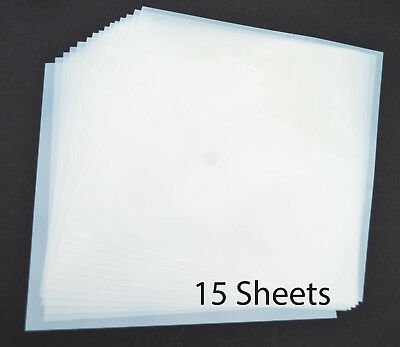 "12"" Mylar Sheets 7.5Mil White for Airbrush Stencil Cutting, Quilting,Cricut 15PK"