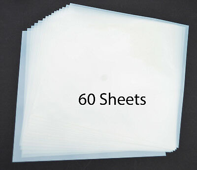 "12"" Mylar Sheets 7.5Mil White for Airbrush Stencil Cutting, Quilting,Cricut 60PK"