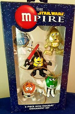 Mpire M&m's Star Wars Ornaments K Adler Christmas Holiday Boxed Set 5  Mint