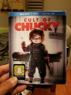 CULT OF CHUCKY (Blu-ray/DVD, 2017, 2-Disc, Digital Copy) NEW WITH SLEEVE