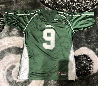 Michigan State Spartans#9 NCAA Football Jersey-Adult L-Nike