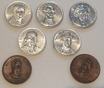 Presidents & Famous Americans Coins & Tokens, Bronze & Aluminum
