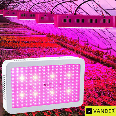 VANDER 2000W LED Grow Light Indoor UV Full Spectrum Hydro For Plant Bloom Lamp
