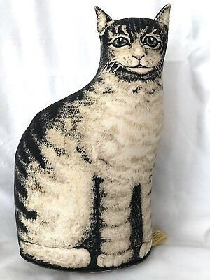 Vintage The Toy Works Tabby Barn Cat Kitty Plush Large Stuffed Standing Decor