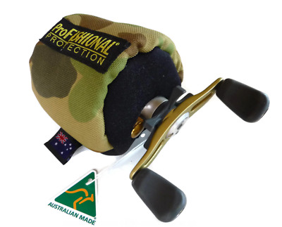 Overhead Reel Cover X-Small Bait-caster / Tear-drop -padded - Made in Australia