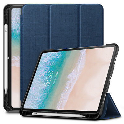 Shockproof Stand Case Cover with Apple Pencil Holder for iPad Pro 11 Inch 2018