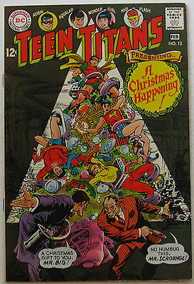 Teen Titans #13 (Jan-Feb 1968, DC), VFN condition, Christmas cover and story