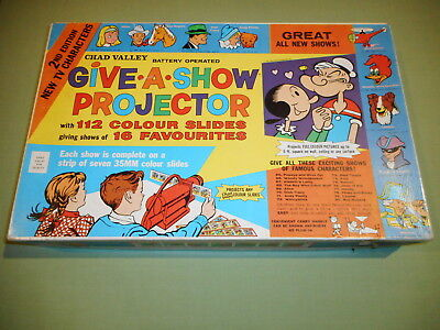 """Vintage 1960's Chad Valley """"Give-A-Show"""" Toy Projector - Made in England"""
