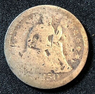 1850 Seated Liberty Dime - Variety 2 - Stars On Obverse