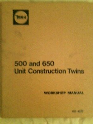 Bsa A65 A50 Twins 1969 1970 Manuale D'officina Original Workshop Manual