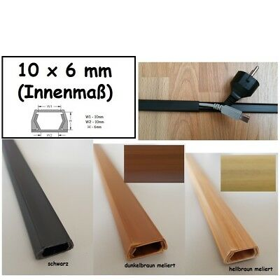 1m Cable Channel 10x6mm (inside Dimensions) Self Adhesive (Connector Available)