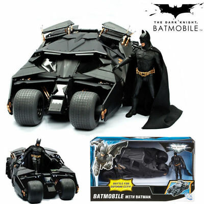DC Batman Car Action Figure The Dark Knight Tumbler Black Batmobile Vehicle Toy