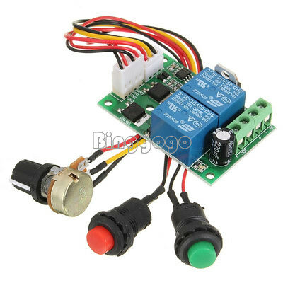 3A DC Motor Speed Controller PWM Adjustable Reversible Switch 6V/12V/24V
