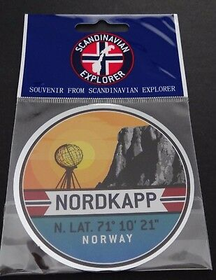 Aufkleber NORDKAP Nordkapp Norwegen Norway North Cape Souvenir Car Sticker OVP