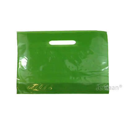 "500 Harrods Green Plastic Carrier Bags 22""x18""+3"" Gift Party Shop Patch Handle"