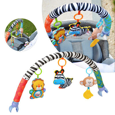 Singring Newborn Baby  Crib Pram Activity Rattle Arch Toy Stroller Travel Bar